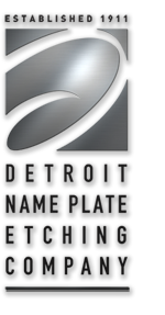 Detroit Name Plate Etching